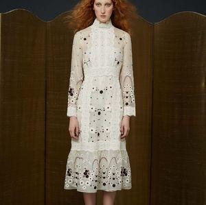 Orla Kiely Embroidered Daisy Dress size 6 NWT